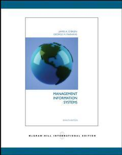 Couverture de l'ouvrage Management information systems (7th ed )