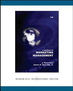 Couverture de l'ouvrage Preface to marketing management (10th ed )