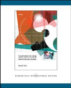 Couverture de l'ouvrage Supervision: concepts and skill-building (5th ed )