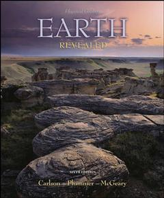 Couverture de l'ouvrage Physical geology: earth revealed with olc password card (6th ed )