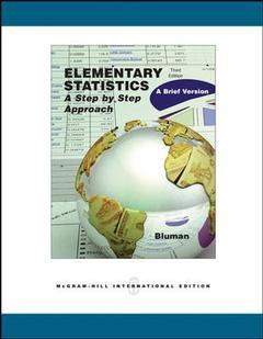 Couverture de l'ouvrage Elementary statistics: a brief version with mathzone (3rd ed )