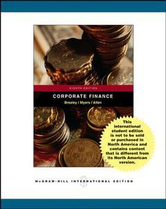 Couverture de l'ouvrage Corporate finance with student CD ethics in finance powerweb and standard & poor