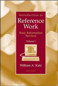 Couverture de l'ouvrage Introduction to reference work volume i