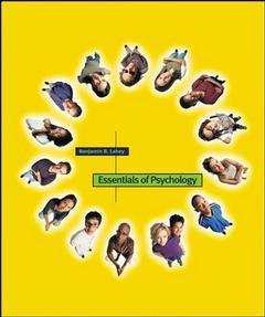 Couverture de l'ouvrage Essentials of psychology, 1/e