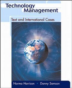 Couverture de l'ouvrage Technology management:text and international cases