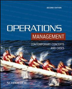 Couverture de l'ouvrage Operations management with student cd-rom (2nd ed )