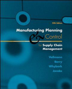 Couverture de l'ouvrage Manufacturing planning and control systems