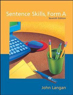 Couverture de l'ouvrage Sentence skills form a (7th ed )