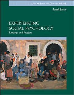 Couverture de l'ouvrage Experiencing social psychology