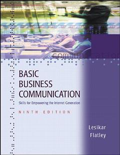 Couverture de l'ouvrage Basic business communication