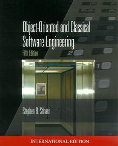 Couverture de l'ouvrage Object oriented and classical software engineering
