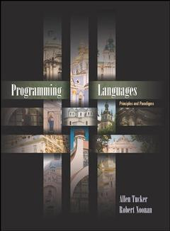 Couverture de l'ouvrage Programming languages: principles and paradigms