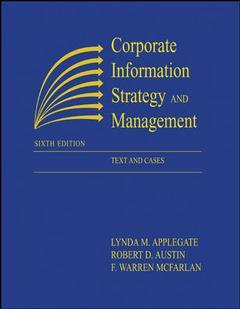Couverture de l'ouvrage Corporate information management: text and cases (6th ed )