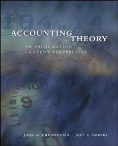 Couverture de l'ouvrage Accounting theory