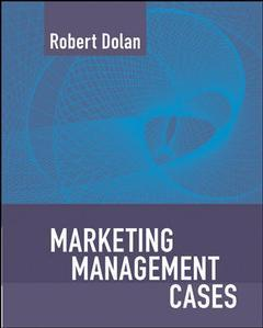 Couverture de l'ouvrage Marketing management: text and cases