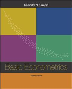 Couverture de l'ouvrage Basic econometrics (4th international edition and CD-ROM package)