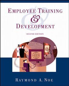 Couverture de l'ouvrage Employee training and development