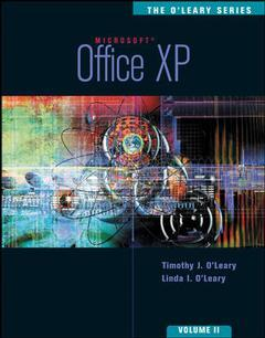 Couverture de l'ouvrage The o'leary series: office xp ii