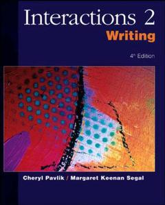 Couverture de l'ouvrage Interactions 2: writing - ise (4th ed )