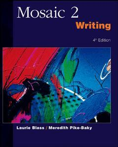 Couverture de l'ouvrage Mosaic 2: wtiting - ise (4th ed )
