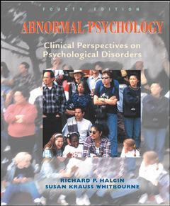 Couverture de l'ouvrage Abnormal psychology: clinical perspectives on psychological disorders with cd-rom (4th ed )