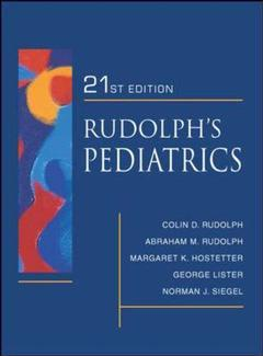 Couverture de l'ouvrage Rudolph's fundamentals of pediatrics (3rd ed )