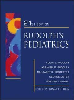 Couverture de l'ouvrage Rudolphs pediatrics (21st ed )