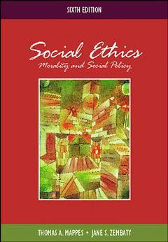 Couverture de l'ouvrage Social ethics: morality and social policy