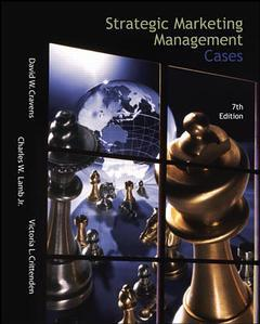 Couverture de l'ouvrage Strategic marketing management cases with cd - ise (7th ed )