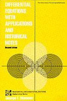 Couverture de l'ouvrage Differential equations with applications and historical notes (paper)