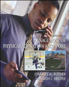 Couverture de l'ouvrage Management of physical education and sport with powerweb: health and human performance (12th ed )