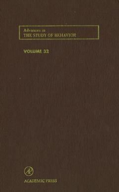 Cover of the book Advances in the Study of Behavior