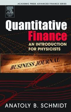 Cover of the book Quantitative Finance for Physicists