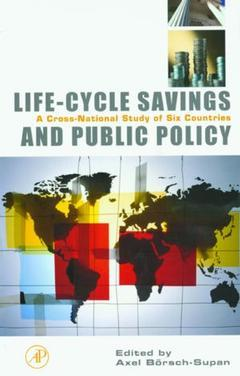 Cover of the book Life-Cycle Savings and Public Policy