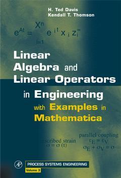 Cover of the book Linear Algebra and Linear Operators in Engineering