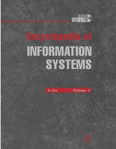 Cover of the book Encyclopedia of Information Systems