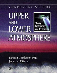 Couverture de l'ouvrage Chemistry of the Upper and Lower Atmosphere