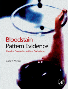 Cover of the book Bloodstain Pattern Evidence