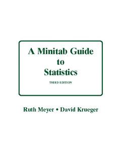 Couverture de l'ouvrage Minitab guide to statistics
