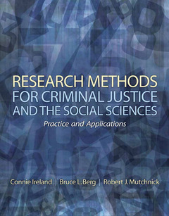 Cover of the book Research methods for criminal justice and the social sciences (1st ed )