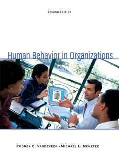 Cover of the book Human behavior in organizations (book alone) (2nd ed )