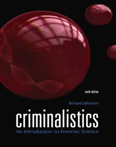 Cover of the book Criminalistics (10th ed )