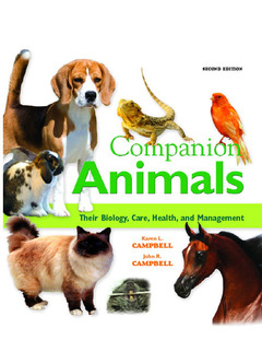 Cover of the book Companion animals : their biology, care, health and management (2nd Ed)