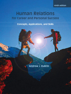 Cover of the book Human relations for career and personal success (9th ed )