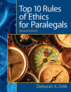 Cover of the book Top 10 rules of ethics for paralegals (2nd ed )