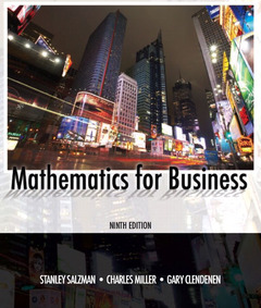 Cover of the book Mathematics for business (9th ed )