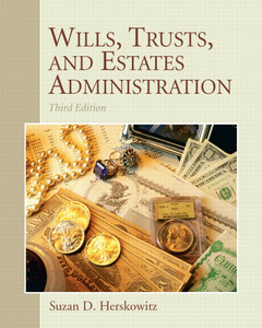 Cover of the book Wills, trusts, and estates (3rd ed )