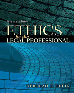 Cover of the book Ethics for the legal professional (7th ed )