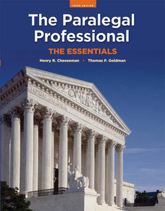 Cover of the book The paralegal professional (3rd ed )