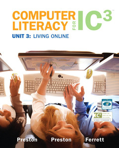 Cover of the book Computer literacy for ic3 unit 3